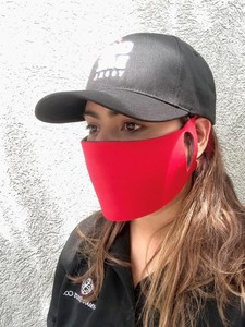 Stretchable Polyester Face Mask (Red)